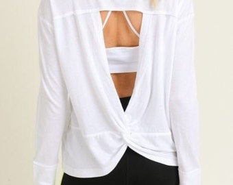 JP Activewear White Athleisure Top