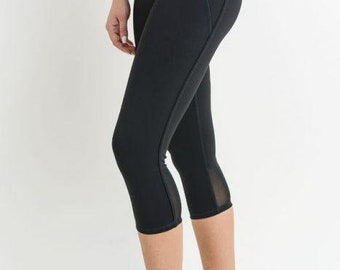 JP Activewear Mesh Capri Leggings