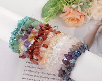 Reiki Charged Crystal Chip Bracelets