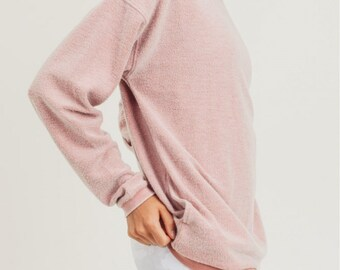 Fashion Sweatshirt, Womens Pink Sweatshirt, Fashion Trending Sweatshirt, All Season Sweatshirt