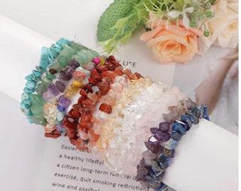 Reiki Charged Crystal Chip Bracelet | Crystal Stretch Bracelets | Healing Crystal Bracelet | Chakra Bracelet | Gemstone Chip Bracelet