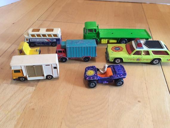 1970s Lesney Matchbox Cars Trucks Set Of 7 Lesney Matchbox Etsy