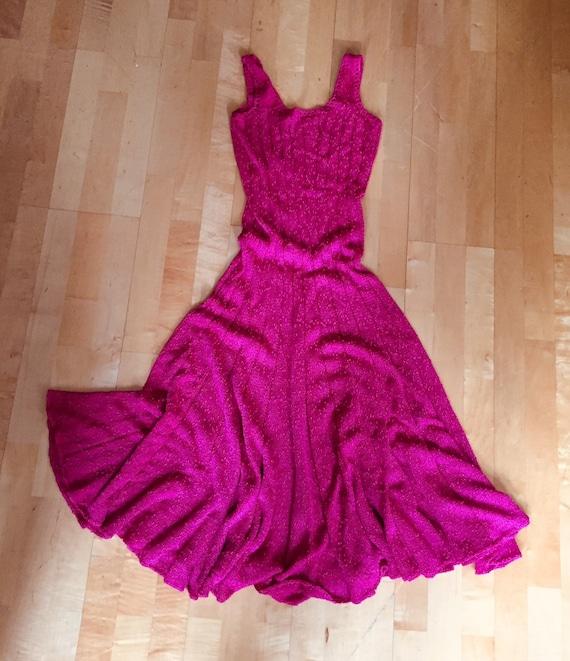 Pink Flared Knit Dress | Custom made