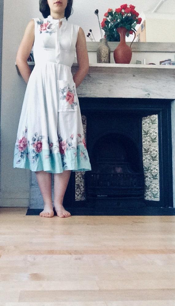 1950's Rose Print Dress | Custom Made