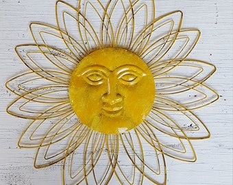 Sunface Wall Decor Garden Decor Metal Sun Wall Art Outdoor Wall Art Metal Sun Decor Sun Face Wall Art Sun Face Wall Decor  sc 1 st  Etsy : wall art sun - www.pureclipart.com