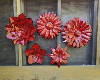 Metal Wall Flower Etsy