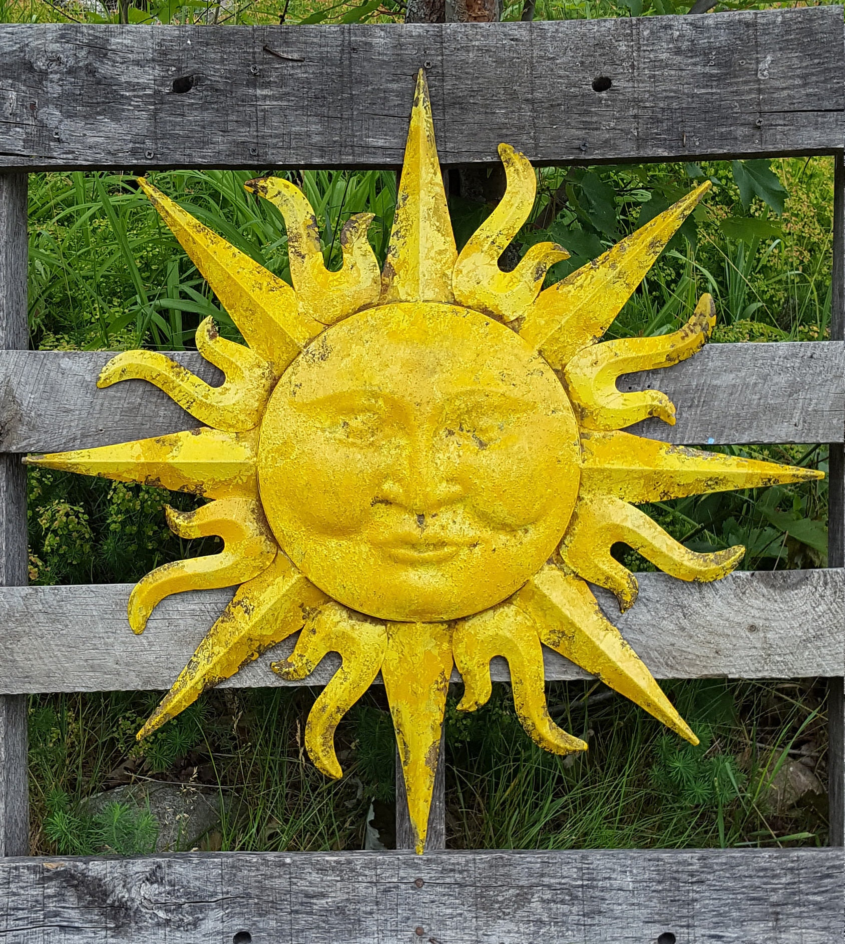 Nice Outdoor Metal Sun Wall Art Motif - Art & Wall Decor - hecatalog ...