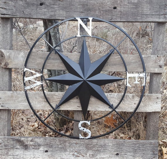 Nautical Compass Wall Art Nautical Decor Nautical Wall Art Etsy