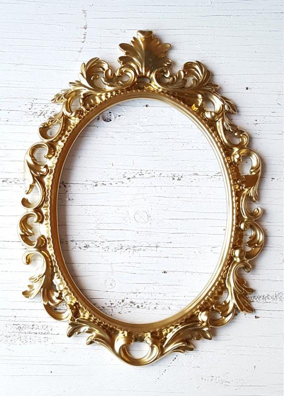 gold open frame wedding photo prop baroque frame nursery etsy