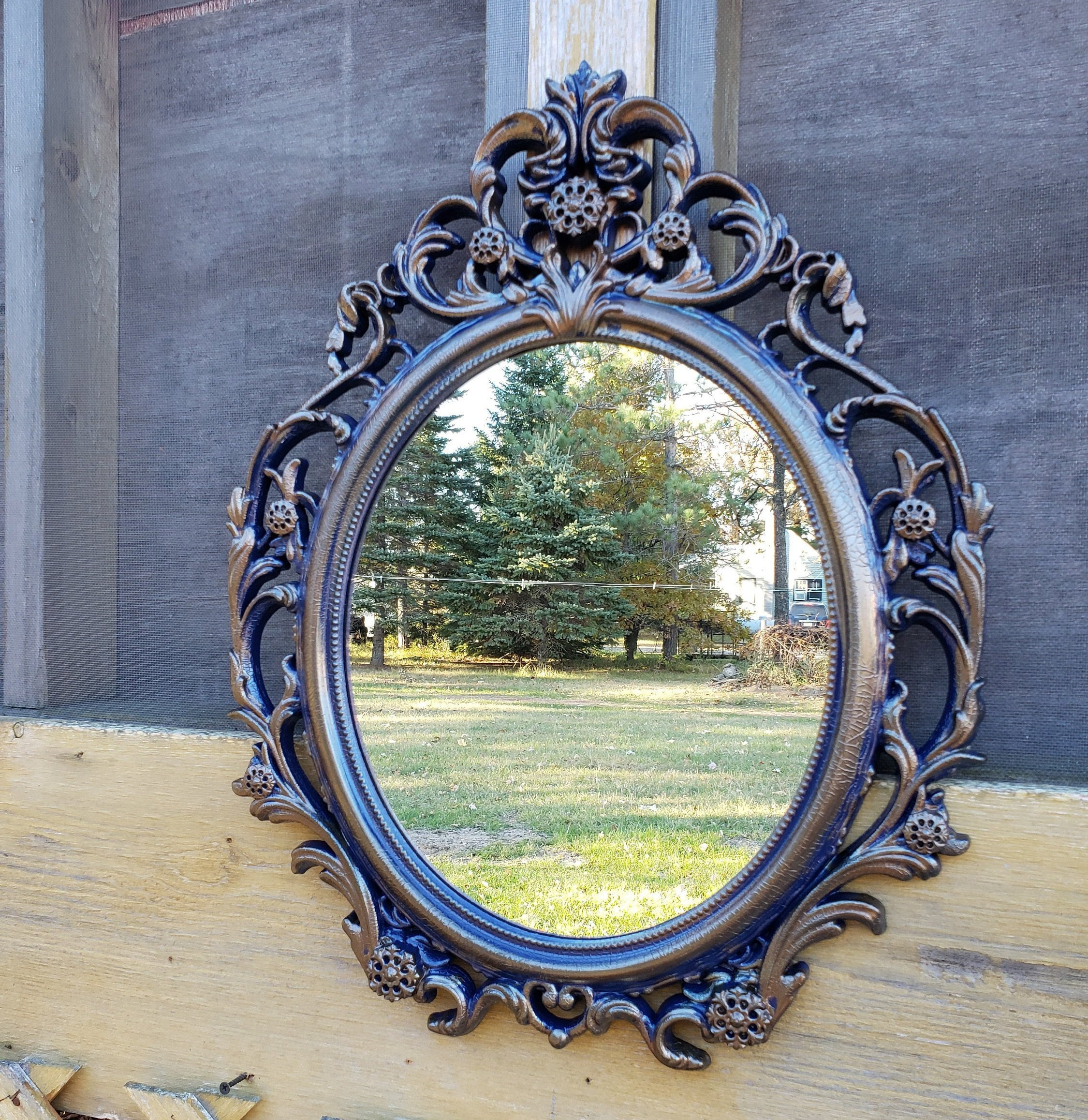 Hollywood Regency Mirror Ornate Mirror White Nursery Mirror Etsy