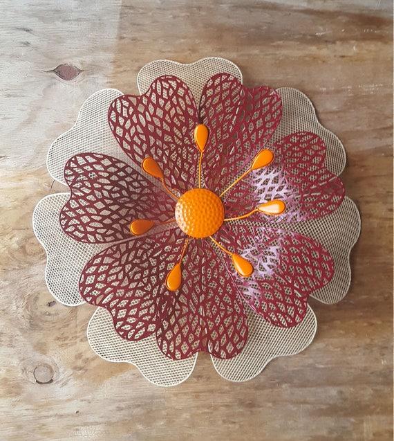 Large Metal Flower Wall Art/ Flower wall decor/ Garden ...