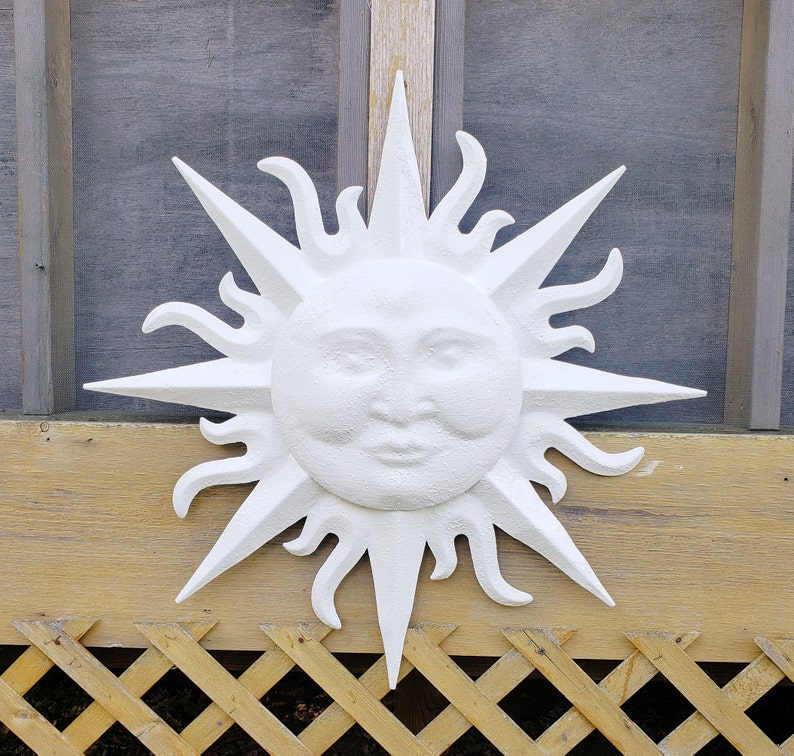 Garden Decor, Metal Sun Wall Art, Outdoor Wall Art, Metal Sun Decor, Sun  Face Wall Art, Garden Wall Hanging, Sun Face Wall Decor