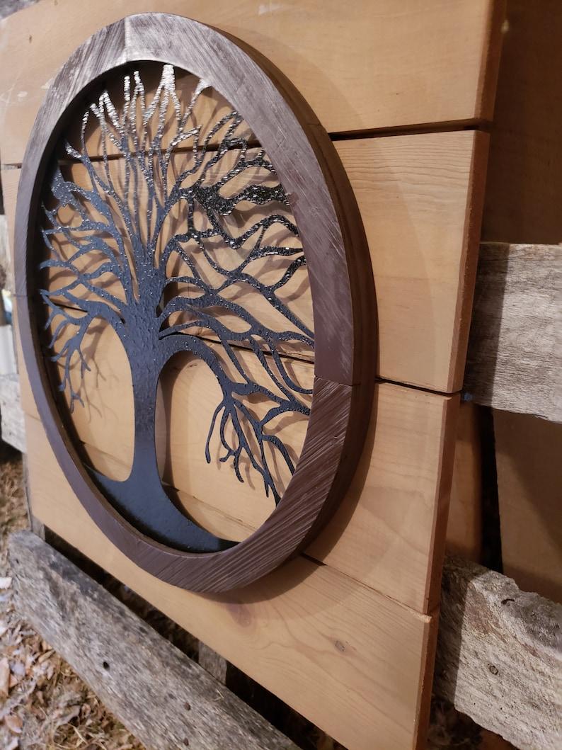Reclaimed wood Tree of life Wall Art Metal Wall Art Metal ...