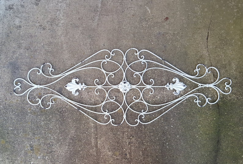 398c54196cf5 Free Shipping Shabby Chic Wrought Iron Scrolled Wall Hanging | Etsy