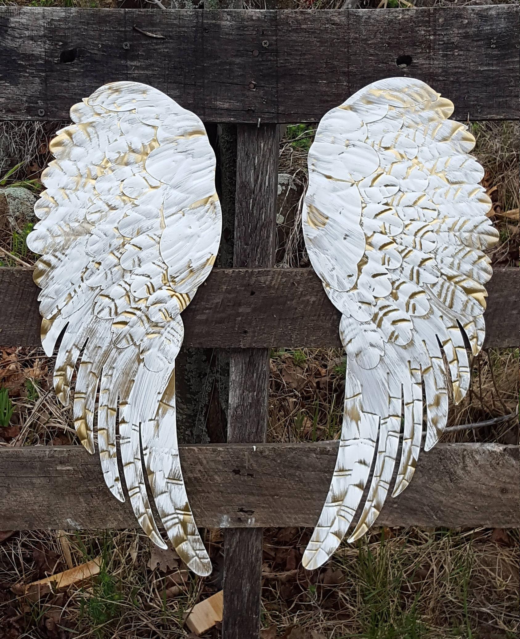 Metal Angel Wings Wall Decor Angel Wing Wall Decor Shabby Etsy