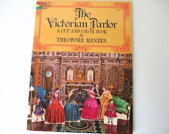 The Victorian Parlor Cut and Color Book 1975, Paper Dolls, Vintage Paper Dolls, Victorian Times