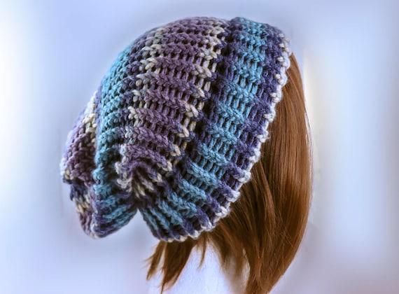 Decadent Decay Beanie Riptide Slouchy Winter Hat Handmade  2da79513f04