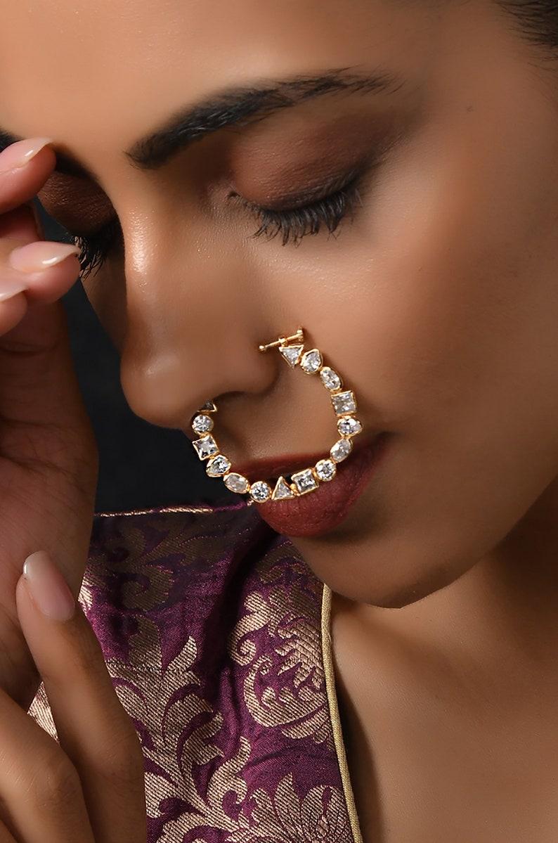 Uncut Polki NosepinPolki NosepinNosepinsNoseringsIndian JewelleryTraditional Jewellery