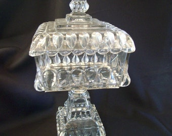 Antique Extremely Large Wedding Box - Jeannette Glass