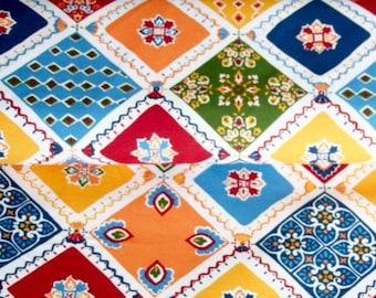 Vintage 280/140cm - Mosaique Provençale - Patchwork