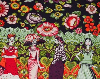 High Quality Fabric - Frida la Caterina Black Background / Alexander Henry