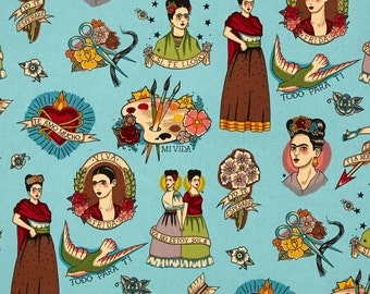 High Quality Fabric - Alexander Henry - Frida Kahlo - Todo Para Ti