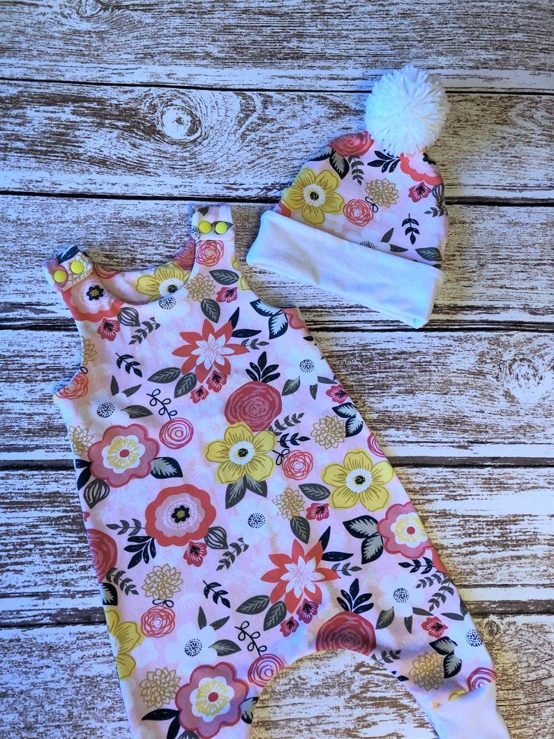 ab6a203d4f42 Baby Girl Romper Baby Girl Harem Romper Baby Girl Flower