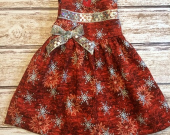 Last One! - Toddler Girls Red Dress - Girls Red Holiday Dress - Toddler Dress -  - Toddler Red Dress - Girls Glitzy Holiday Dress