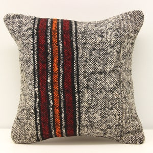 Accent kilim pillow cover 12x12 inch Natural Pillow Throw Kilim pillow cover Chevron Pillow Bolster Decorative  Pillow S-994