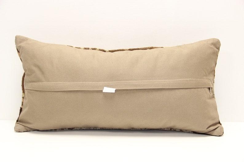 Anatolian kilim pillow cover 12x24 inch  Ethnic Kilim pillow Chair pillow Accent Pillow Throw pillow Bolster Sofa Pillow  D-854
