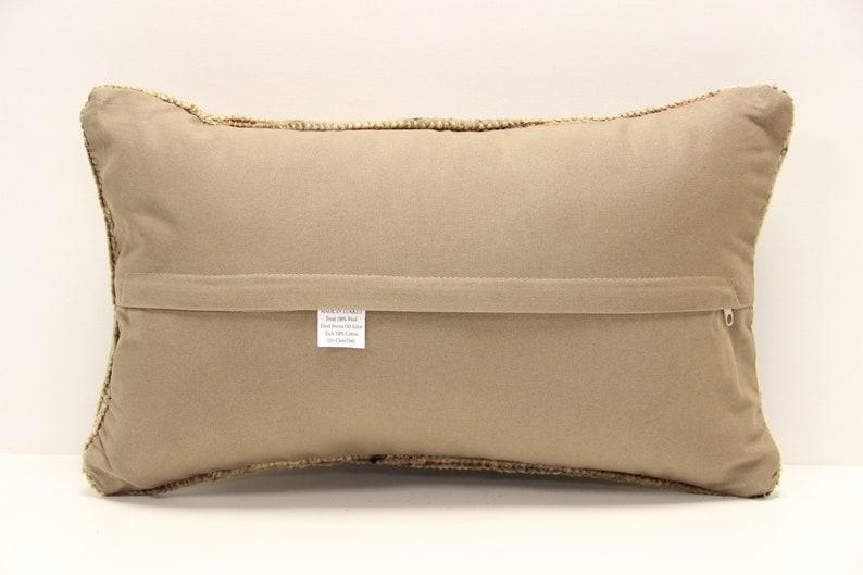 Turkish kilim pillow cover 12x20 inch  Armchair Pillow Knitting Pillow Lumbar Throw Pillow Kilim Cushion Cover B-1230