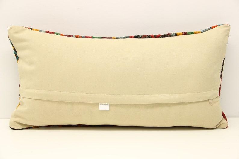 30x60 cm Anatolian kilim pillow cover 12x24 inch Ethnic Kilim pillow Chair pillow Accent Pillow Throw pillow Bolster Sofa Pillow  D-618