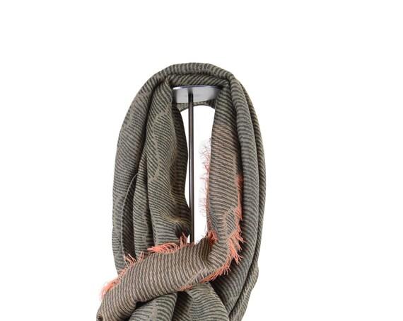 SALE 50%OFF - Buff - foulard mixte jacquard - kaki - La Tribu des Oiseaux