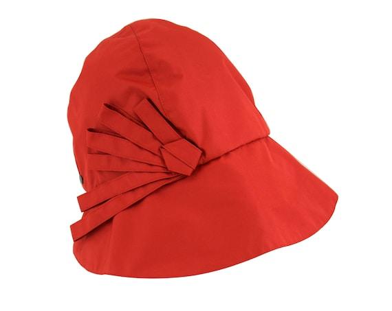 Tadao - chapeau de pluie pliable et imperméable - rouge - La Tribu des Oiseaux