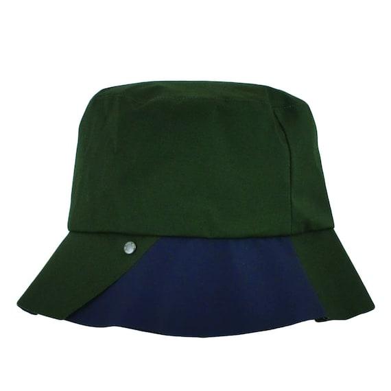 Herbin - chapeau de pluie imperméable et pliable - kaki/bleu - La Tribu des Oiseaux