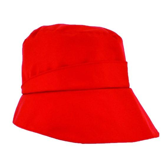 Renzo - casquette de pluie imperméable et pliable - rouge - La Tribu des Oiseaux