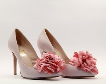 Nude - Pink high heels Wedding shoes Bridal Nude - Pink Pumps High heels  Pink Pumps Leather Handmade Heels Heels Bridesmaids shoes bridal 0c0a369cc790