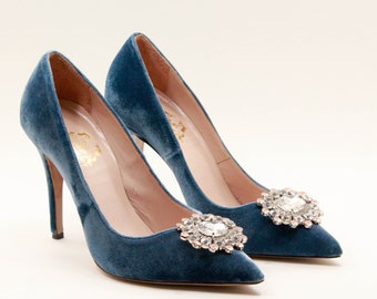 Velvet Heels pearls Blue wedding shoes Burgundy velvet leather high heels  Bridal shoes Pumps Handmade Women shoes Burgundy Pink shoes Pumps e2f48f127