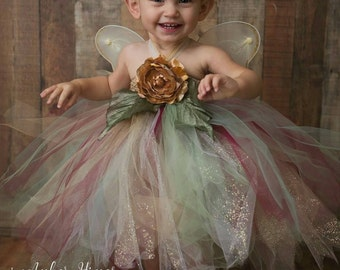 653051748b Infant & Girls Enchanted Forest Fairy Set, Rustic Woodland Glitter Fairy  Set, Rustic Tulle Fairy Dress and Wings, Girls Fairy Photo Set