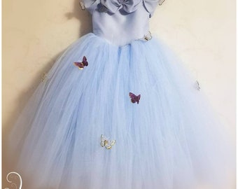 e646b1f623283 Cinderella Inspired Butterfly Princess Dress, Infant & Girls Butterfly  Princess Tulle Ball Gown, Butterfly Princess Tulle Gown *Many Colors*
