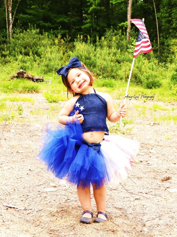 c2b97eed1d0d Girls 4th of July Tutu   Crop Top Baby Girls 4th of July