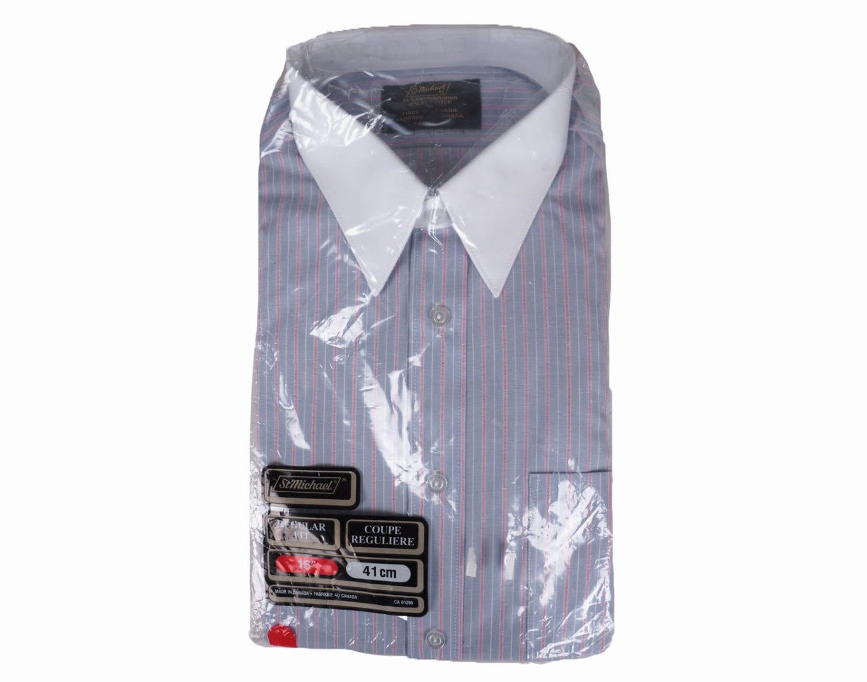 Vintage 1970s Mens Striped Dress Shirt Nos Long Sleeve Size Etsy
