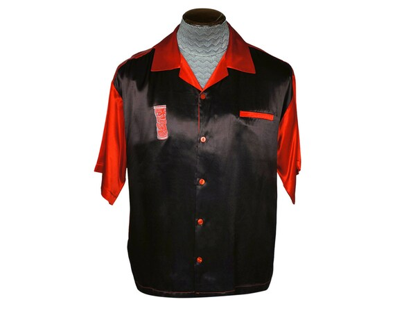 Vintage 1990s Mens Satin Shirt by BC Ethic Bowling