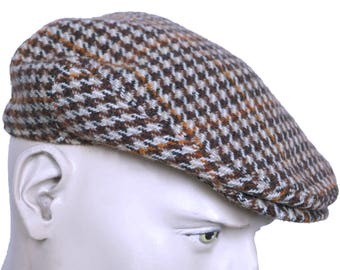 Vintage Dunn and Co Rutland County Cap Harris Tweed Newsboy Driving Hat Size 57