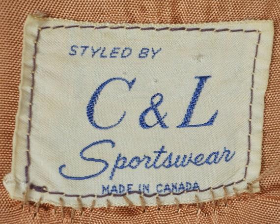 Vintage 1960s Corduroy Jacket Coat Canada Sportsw… - image 5