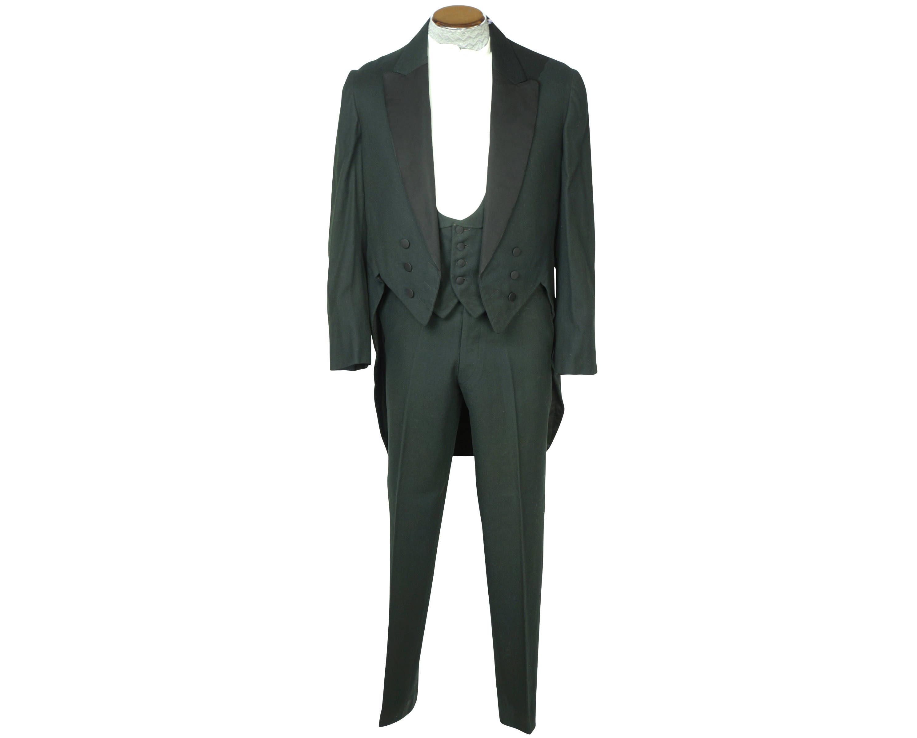New 1930s Mens Fashion Ties Antique Mens Tuxedo Formal Tails With Waistcoat  Pants Sz M $45.00 AT vintagedancer.com