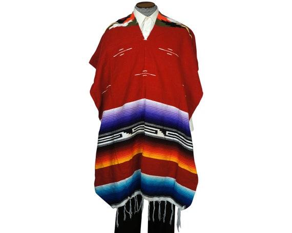 Vintage 1960s Mexican Poncho Saltillo Serape Strip