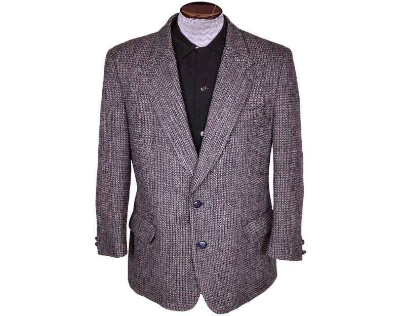 64850ed6606c8 Vintage Harris Tweed Mens Jacket Sport Coat 42 Short