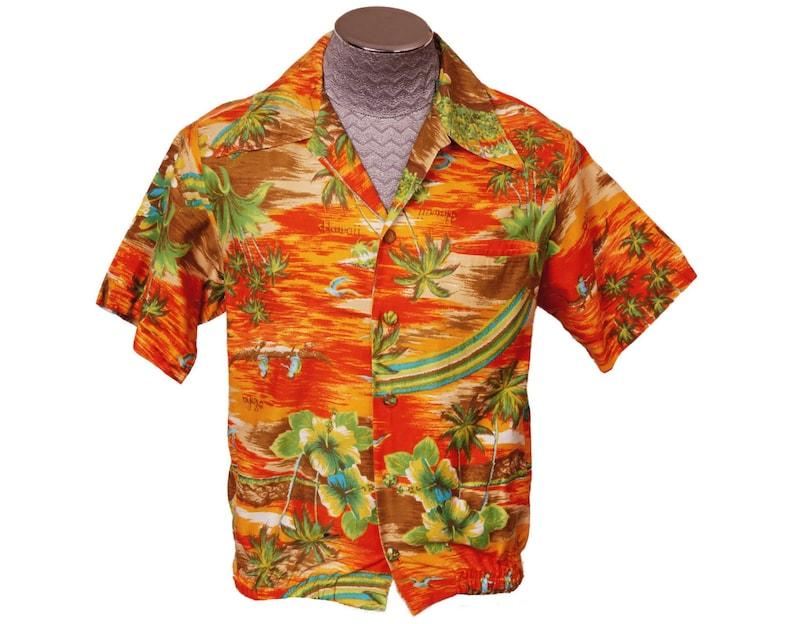 bbb0653e Vintage 1960s Hawaiian Print Shirt by Pacific Isle Creations | Etsy
