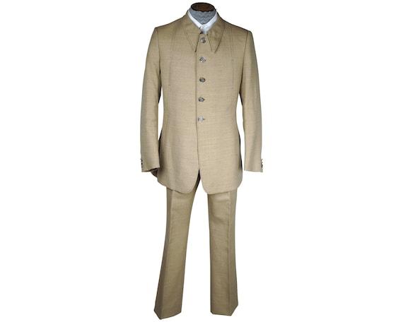 Vintage Mens 70s Suit Mens Mod Dandy Fashion Size